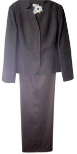 Talbots Talbots Classic Brown Evening jacket (Size 10) & Brown Silk Pants(Size 12)