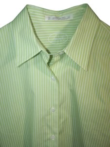Foxcroft Button Down Shirt green white