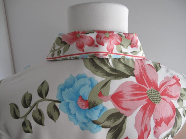 Plenty by Tracy Reese Silk Printed Floral Comfortable Top Multicolored