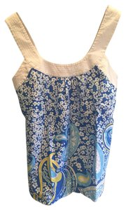 Lilly Pulitzer Top Blue, Yellow and White
