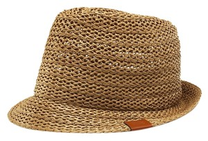 Gucci Gucci Brown Straw Fedora Hat Size XL (Extra Large)