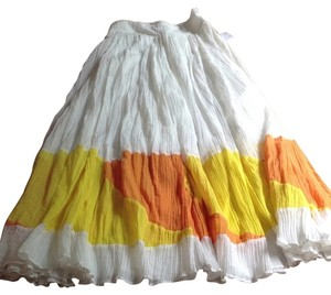 Free People Skirt White Yellow Orange