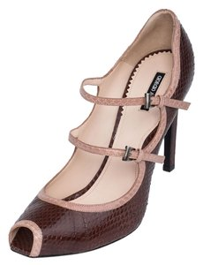 Giorgio Armani High-heels Italy Office Evening Genuine Brown Pumps