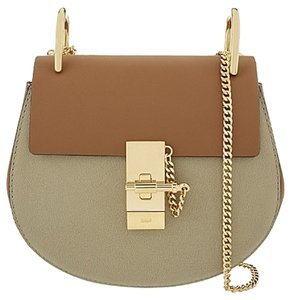 Chloé Chain Turnlock Flap Two-tone Colorblock Bicolor Crossbody Shoulder Bag