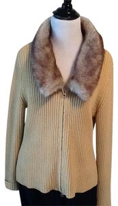 Ballinger Gold Dry Clean Cotton 85% Acrylic 15% Polyester Made In Hong Kong Cardigan