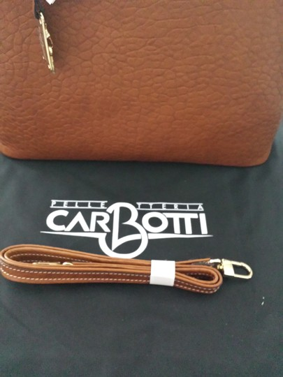 Carbotti Leather Handmade Tote in Tan