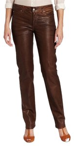 NYDJ Leather Pants Leather Skinny Jeans-Coated