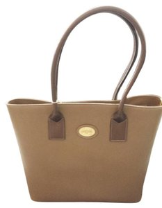 Carbotti Leather Handmade Tote in Cappuccino/Bronze