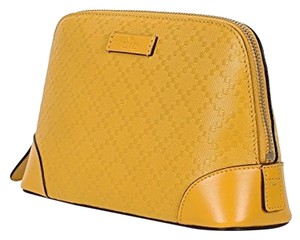 Gucci Gucci Bright Diamante Yellow Leather Cosmetic Case 354504