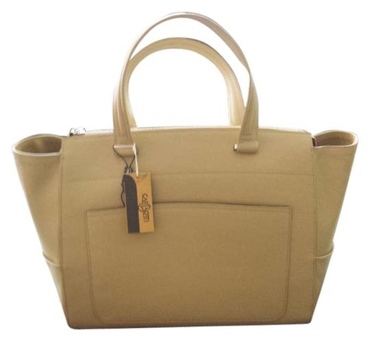 Preload https://item3.tradesy.com/images/carbotti-leather-handmade-tote-bag-nude-958867-0-0.jpg?width=440&height=440