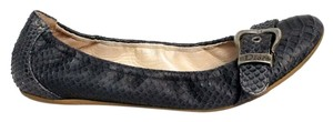 Dior Snakeskin Buckle Leather navy/black Flats