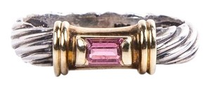 David Yurman Silver Pink Tourmaline Vintage Ring