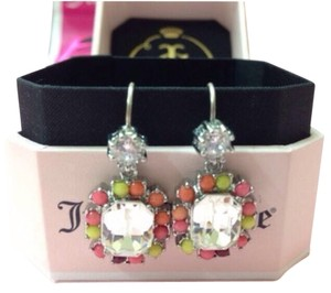 Juicy Couture NEW Authentic Juicy Couture Silver Pink Small Drop Earrings MSRP: $48 YJRU5859