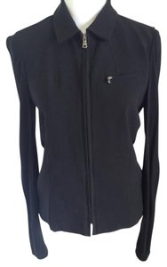 DKNY Wool Tailored Couture Stretch Black Jacket