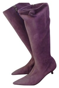 PRADA suede leather boots 35 Prada purple Boots