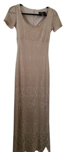 NUDE GOLD BEIGE Maxi Dress by JS Collections