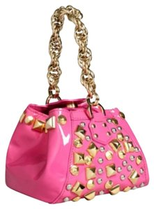 Versace for H&M Hm Studs Studded Satchel in Pink And Gold