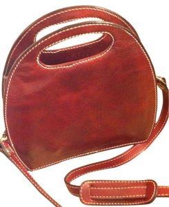 Floto Satchel in Tuscan Red
