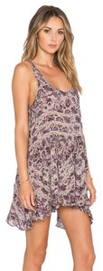 Free People short dress TAUPE COMBO Slip Lace Voile on Tradesy