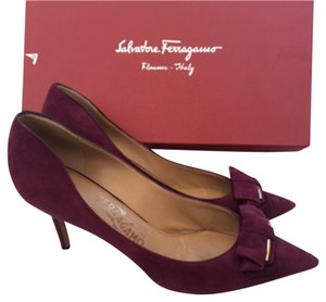 Salvatore Ferragamo Heels Leather Purple Pumps
