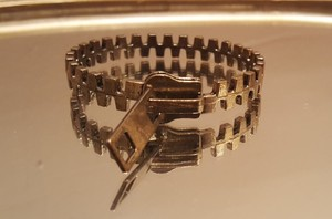 Other Retro Antique Gold Plated Zipper Bracelet