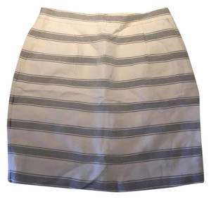 J.Crew Skirt Navy and White Striped