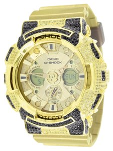 G-Shock Metallic Gold G Shock GA200GD-9A Watch Men Resin Band Lab Diamond Digital Analog