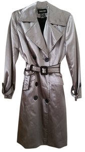Brandon Thomas Trench Trench Dressy Casual Warm Detachable Lining Deal Discount Work Belted Belted Trench Comfortable Knee Knee Trench Coat