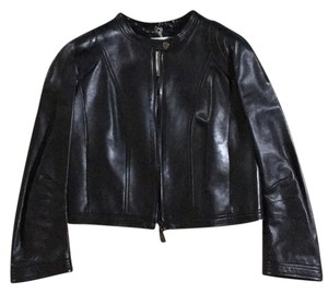 Cline Biker Lambskin Leather dark chocolate Leather Jacket