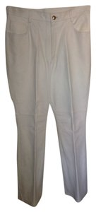 Brand New White Pant Straight Pants LEATHER