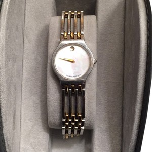 Movado Movado Bracelet, Mother Of Pearl Dial Face, Link-style, Sapphire Crystal, Two Toned (Gold And Silver)