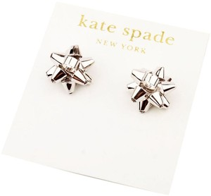 Kate Spade NEW Kate Spade New York Bourgeois Bow in Silver Studs Earrings