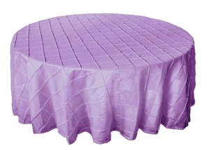 "Tablecloths Factory Lavender Two 120"" Pintuck Tablecloth"