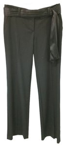 Trina Turk Wool Stretchy Straight Pants BLACK