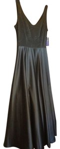 A.B.S. by Allen Schwartz Gown Big Satin Skirt Full Skirt Beaded Top Dress