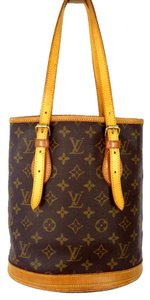 Louis Vuitton Bucket Petit Bucket Monogram Shoulder Bag