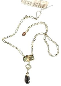 Lori Bonn Lori Bonn Sterling Silver necklace with Light green and clear genuine stones