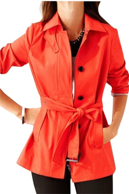 Item - Orange/Red Cotton Classic Small Coat Size 4 (S)