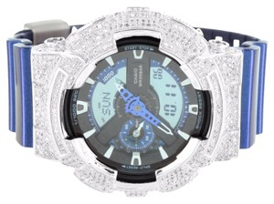 G-Shock G Shock Metallic Blue GA110NM-2A Watch Men Dig-Ana Lab Diamond Thanksgiving Sale