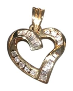 Bailey Banks Biddle Bailey Banks Biddle Diamond Heart Pendant, 14k Yellow Gold