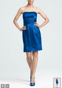 David's Bridal Royal Blue Style 83707 Dress