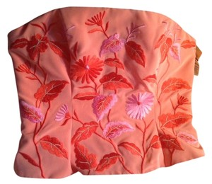 Marie St. Claire Embroidered Evening Top Orange Peach