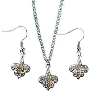 NFL Saints NFL New Orleans Saints Earring and Necklace Set