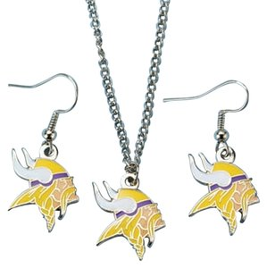 NFL Vikings NFL Minnesota Vikings Earring and Necklace Set