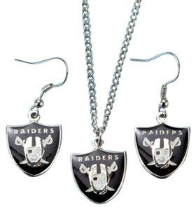 NFL Raiders NFL Oakland Raiders Earring and Necklace Set