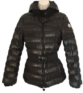 Moncler Morzine Down With Fur Fur Black Jacket