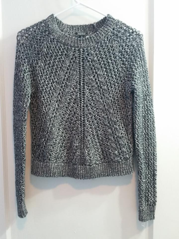 35536c360 Lucky Brand Silver Grey Pointelle Crew Neck Longsleeve Knit Crochet Cable  Marled Metallic Holiday Pointelle Sweater - Tradesy