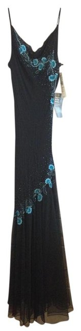 Preload https://img-static.tradesy.com/item/959538/xscape-black-with-teal-accents-evening-gown-long-formal-dress-size-10-m-0-0-650-650.jpg