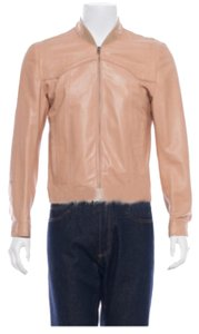 Maison Martin Margiela Beige, Nude Leather Jacket
