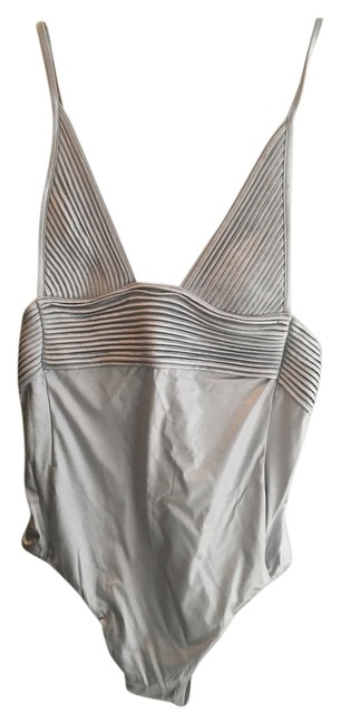 Item - Silver Beach Nervures Non-wired Swimsuit One-piece Bathing Suit Size 4 (S)